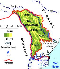 Carte moldavie