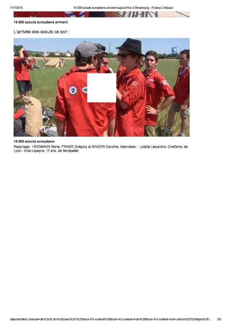 15 000 scouts européens ...bourg - France 3 Alsace3